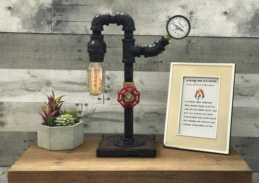 The Edison Pipe Lamp - Gauge & Bulb Included!