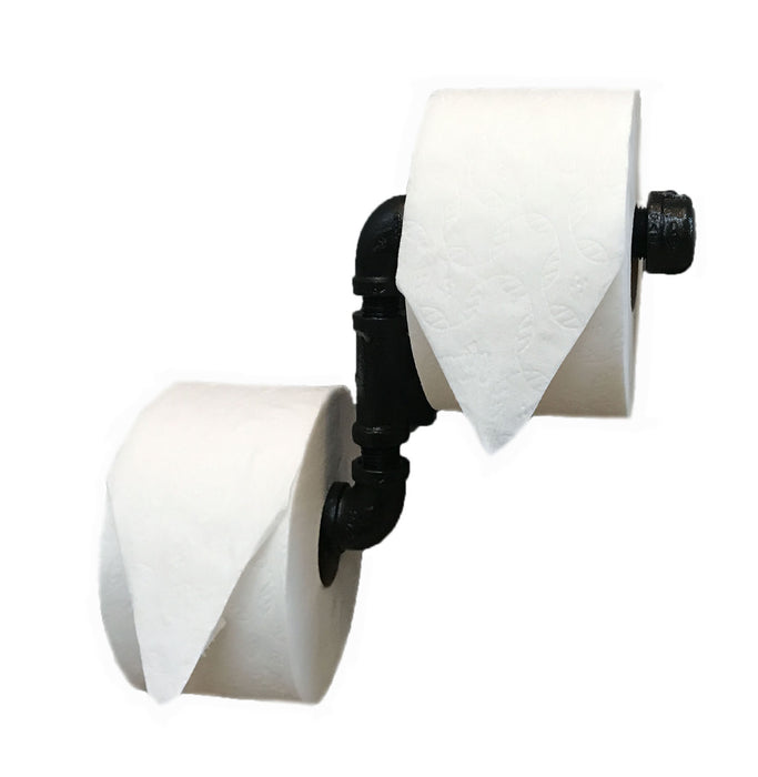 Industrial Toilet Paper Holder - Double Roll Design - Never Run out of TP in the Middle of the Night Again!