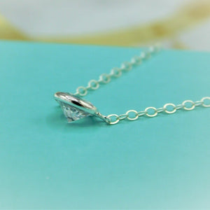 Floating Cubic Zirconia Necklace