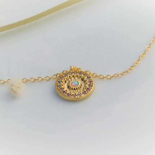 Opal Crown Necklace