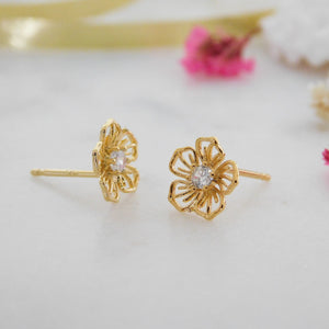 Hibiscus Pua Stud Earrings