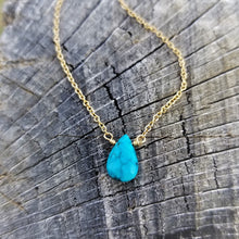 Bright Turquoise Drop Necklace