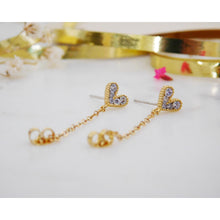 Heart Chain Hoop Earrings