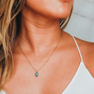 Minimalist Raw Emerald Necklace