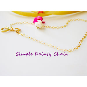 Simple Dainty Chain Necklace