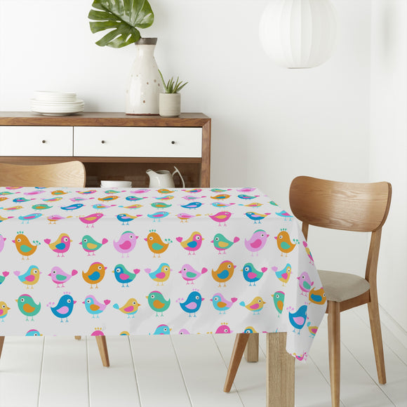 Birds In The Toddler Group Rectangle Tablecloths