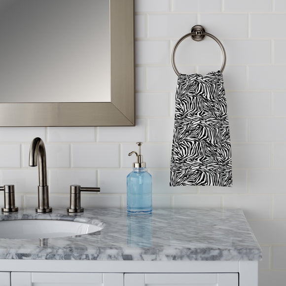 Zebra Black And White Hand Towel