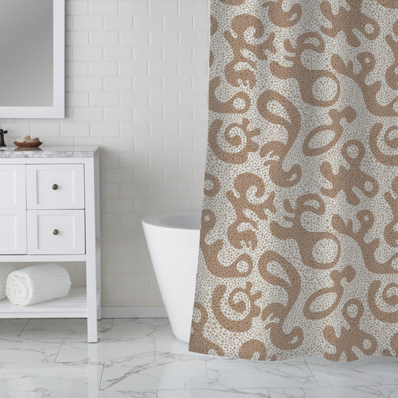 Forms and Dots Shower Curtain