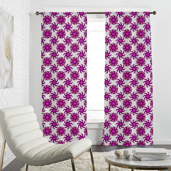 Geometric Flower Magic Curtains
