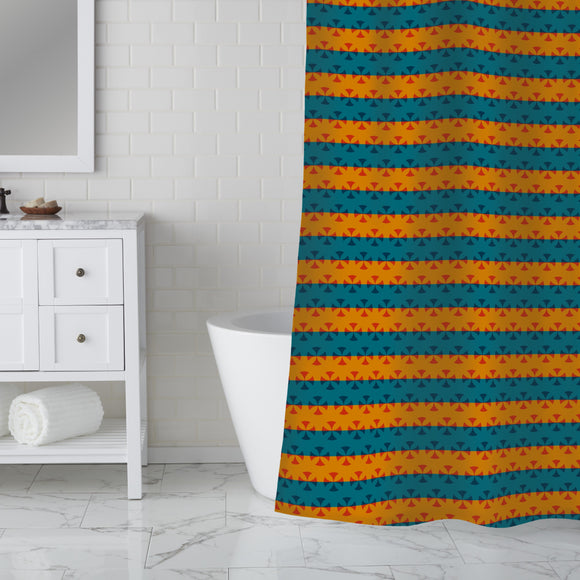 Stripe Contrast Shower Curtain