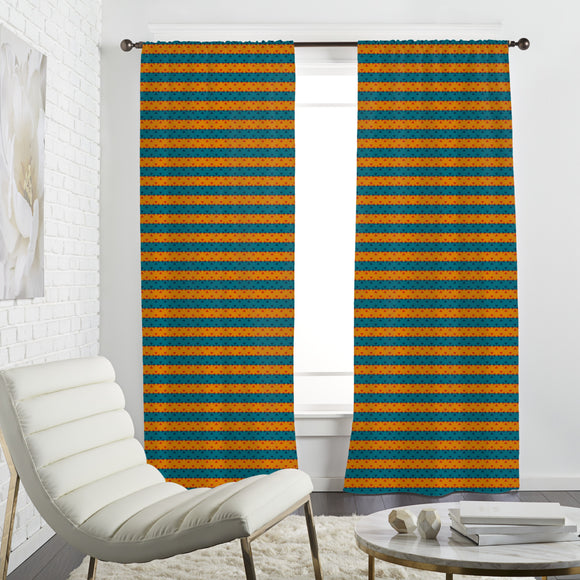 Stripe Contrast Curtains