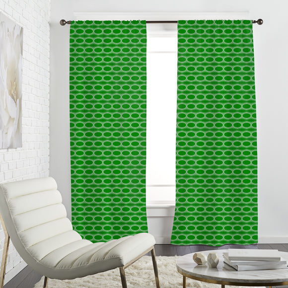Fringing Ovals Curtains