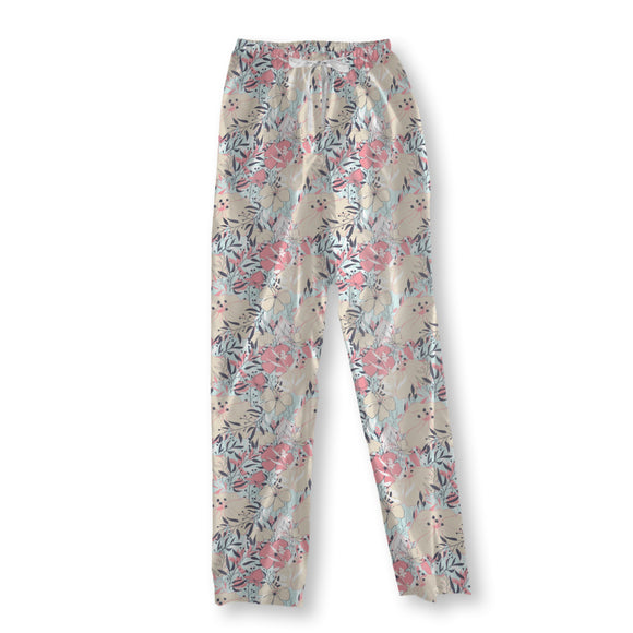 Vintage Flower Splendor Pajama Pants