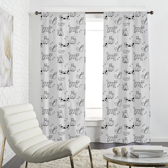 Funny Cats Curtains
