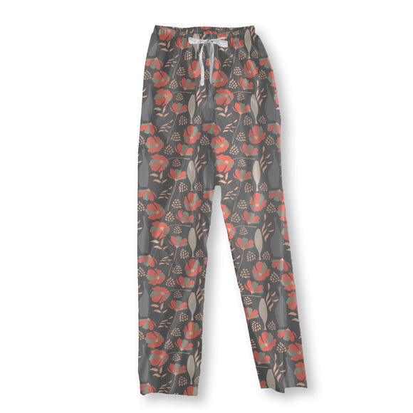 Poppies And Vases Pajama Pants