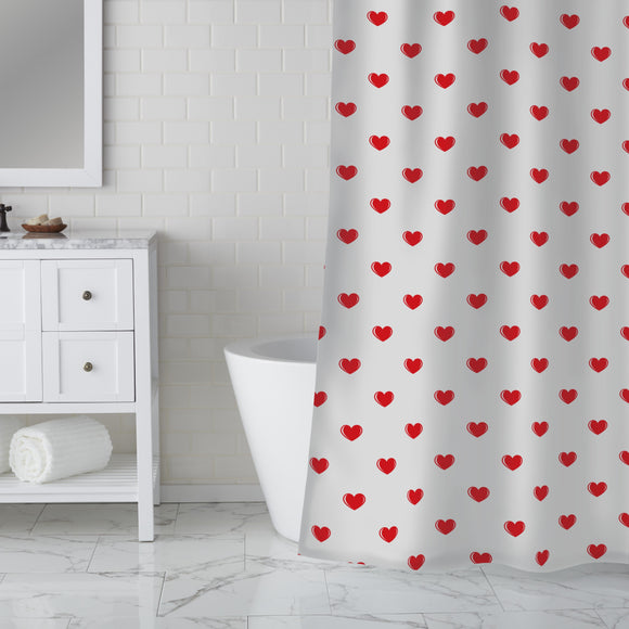 Small Hearts Shower Curtain