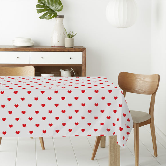 Small Hearts Rectangle Tablecloths