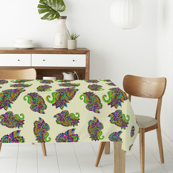 Zentangle Paisley Rectangle Tablecloths