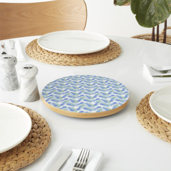 Pineapple And Palm Leaves Lazy Susan