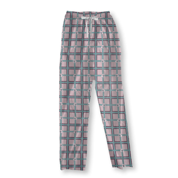 Fruit Blossom Check Pajama Pants