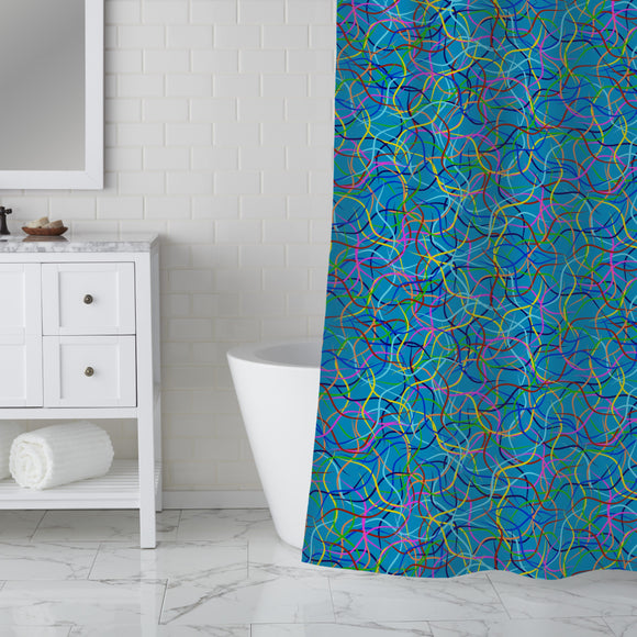 Carnival Ribbons Shower Curtain