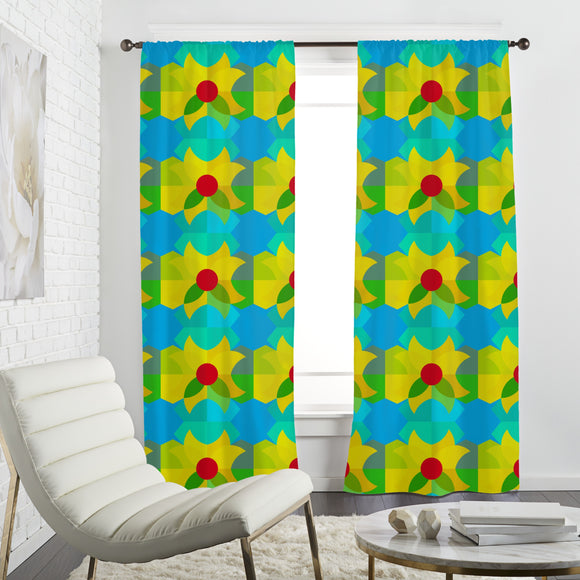 Geometric Spring Curtains