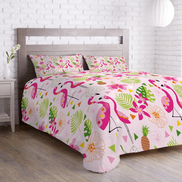 Tropical Flamingo Paradise Duvet