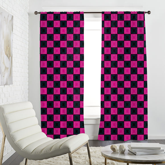Pop Art Baroque Tiles Curtains