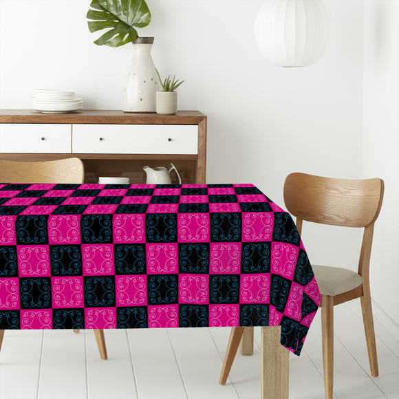 Pop Art Baroque Tiles Rectangle Tablecloths