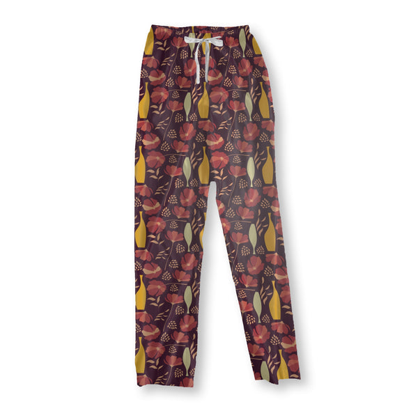 Poppies And Vases Mix Pajama Pants