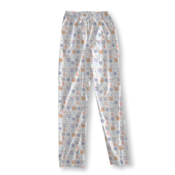 Cats And flowers Pajama Pants