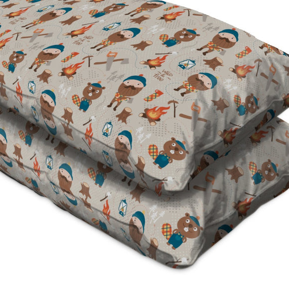 Lumberjack And Forest Friends Pillow Case