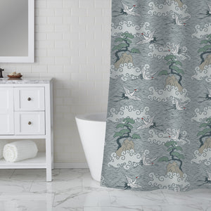 Cranes Over The Ocean Shower Curtain