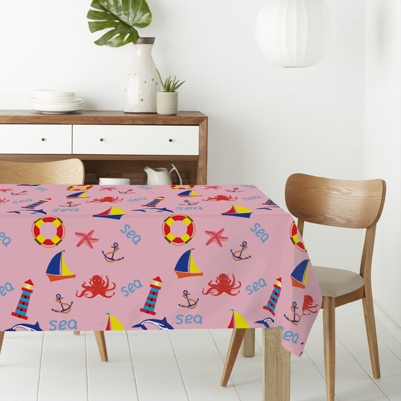 Day At The Seaside Rectangle Tablecloths
