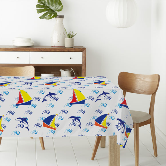 Jumping Dolphins Rectangle Tablecloths