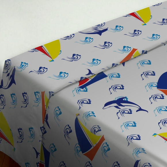 Jumping Dolphins Flat Sheets