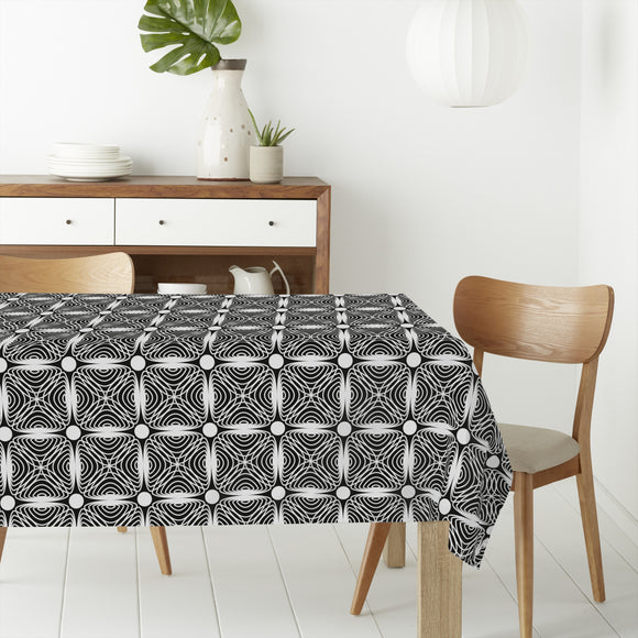 Hypnotic Squares Rectangle Tablecloths
