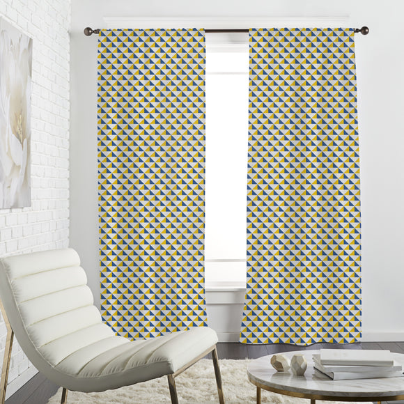 Triangle Sgraffito Curtains