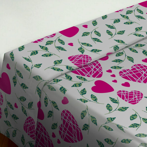 Hearts And Leaves Flat Sheets