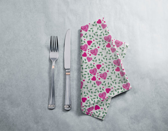 Hearts And Leaves Napkins