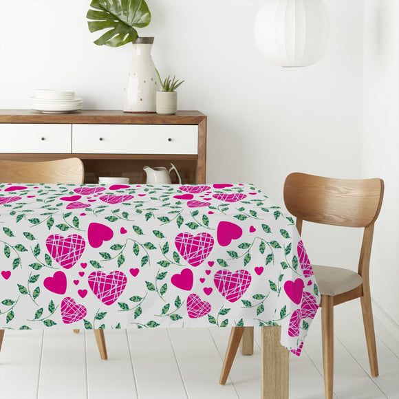 Hearts And Leaves Rectangle Tablecloths