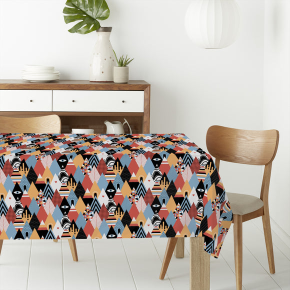Patchwork Triangles Rectangle Tablecloths