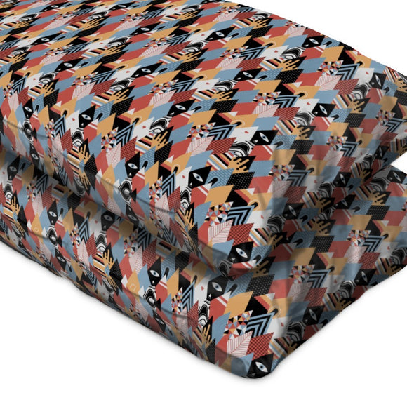 Patchwork Triangles Pillow Case