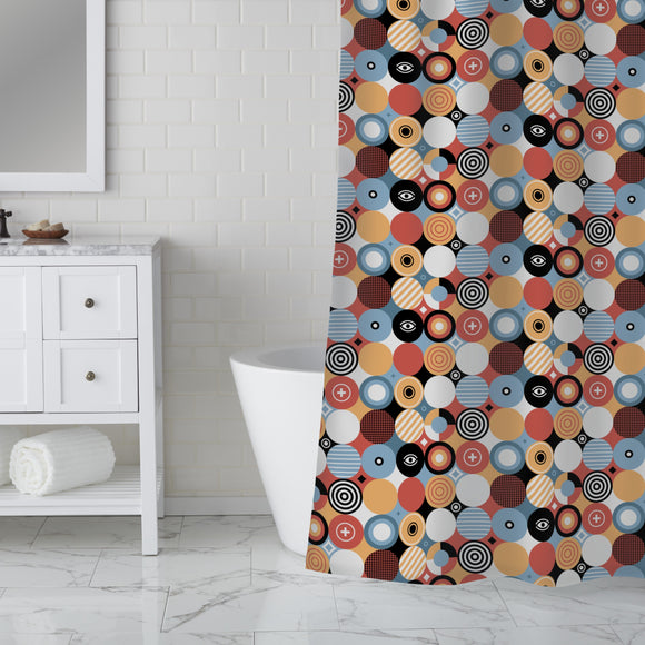 Patchwork Circles Shower Curtain