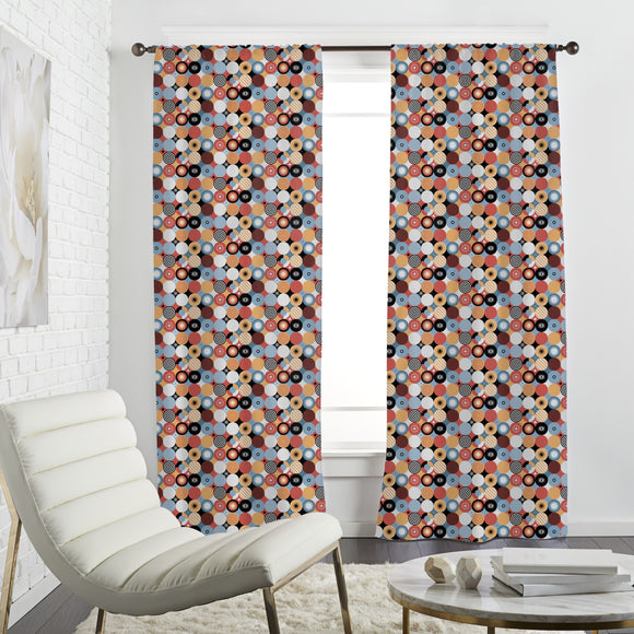 Patchwork Circles Curtains