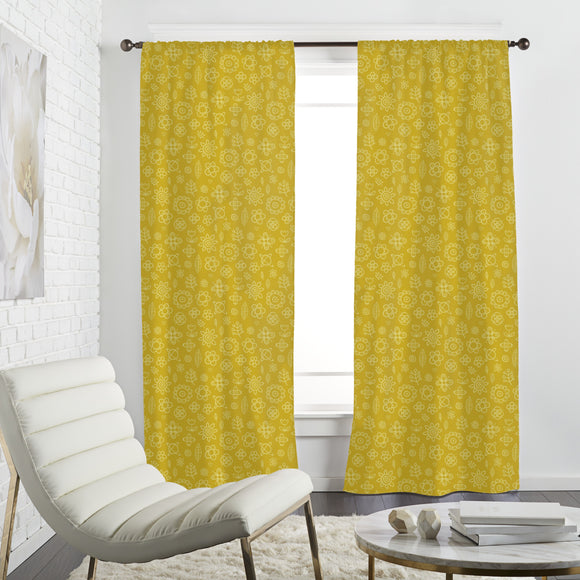 Floral Drawings Curtains