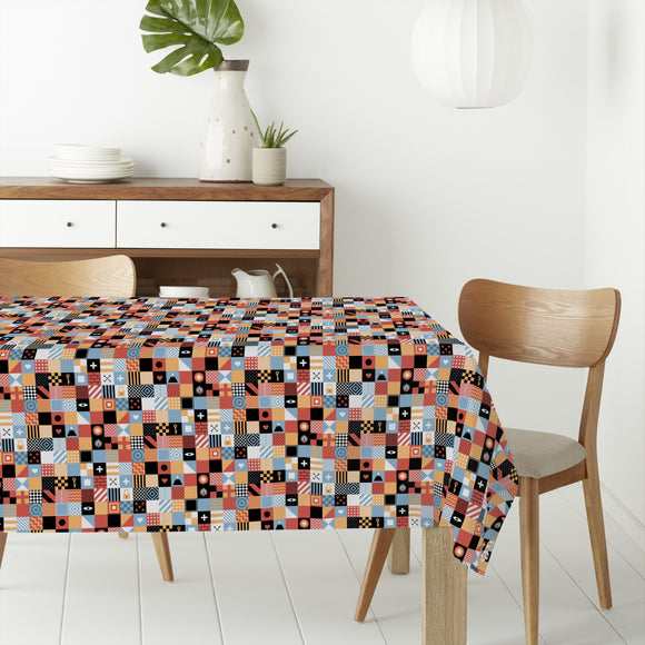 Square Game Rectangle Tablecloths