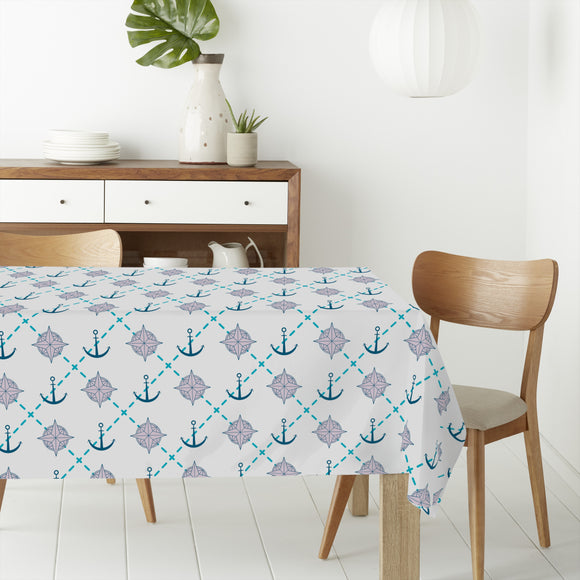 Anchor and Compass Rectangle Tablecloths