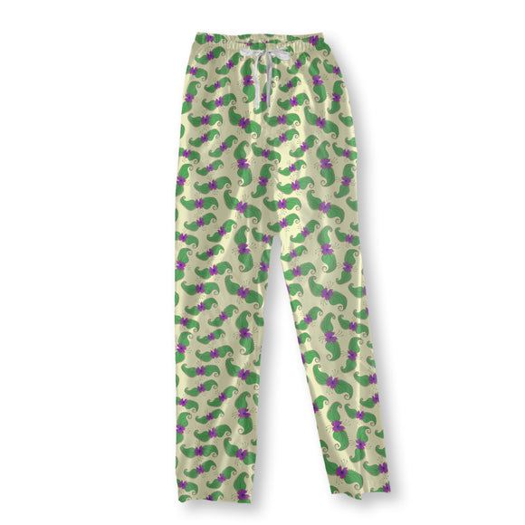 Blossoms And Leaves Pajama Pants