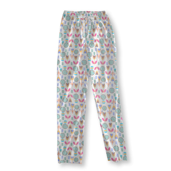 Embellished Meadow Flower Pajama Pants